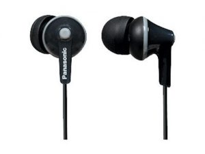 1.Panasonic ErgoFit In-Ear Earbuds RP-TCM125-K