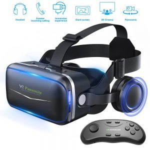 Pansonite VR Headset with Bluetooth Remote Controller