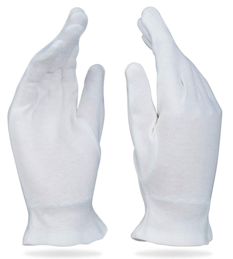 Beauty Care Wear Medium White Cotton Gloves