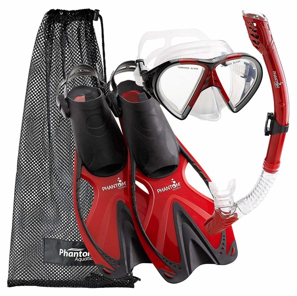 Phantom Aquatics Adult Sport Snorkel Gear Set