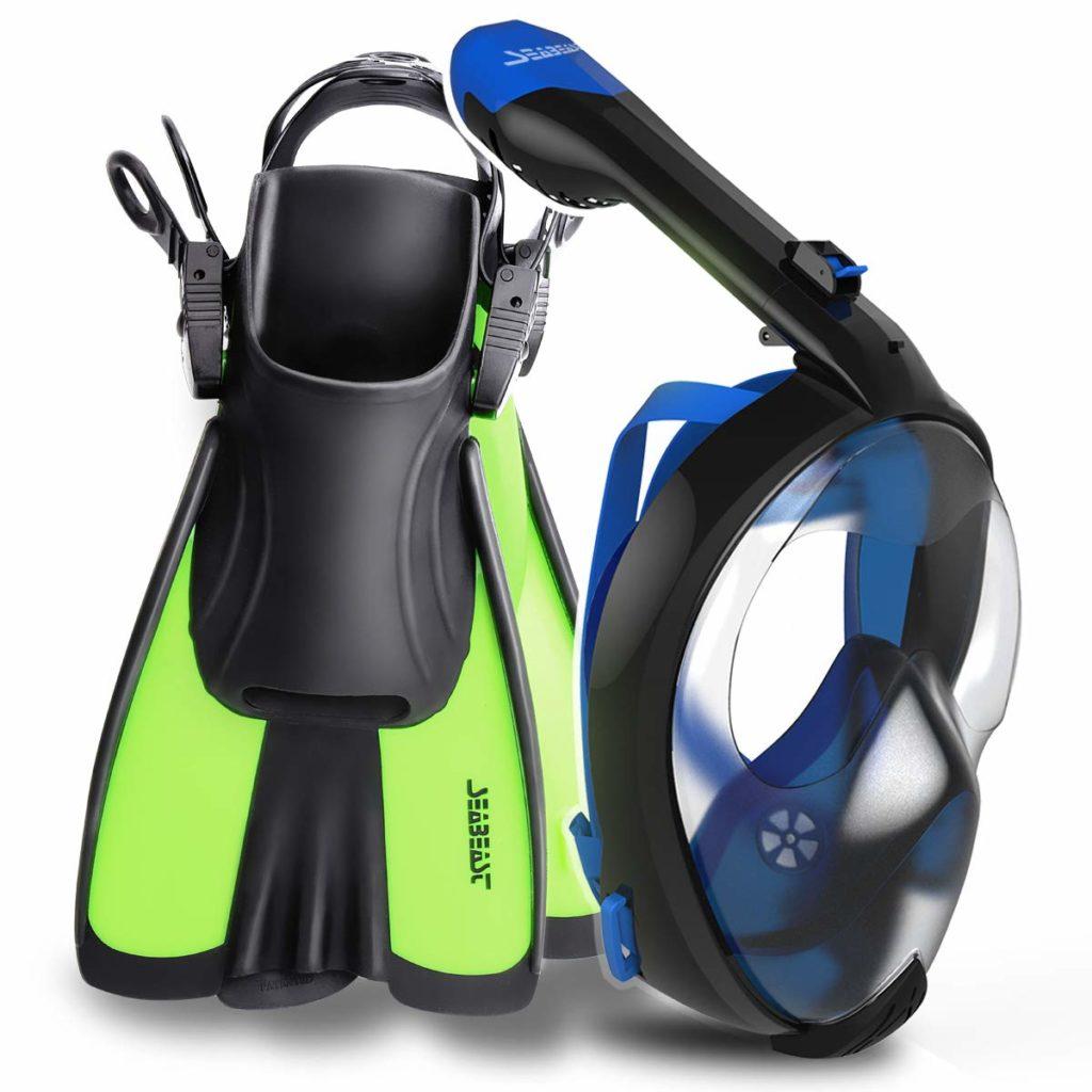 Seabeast AF90 Snorkel Gear Set with Full Face Snorkel Mask