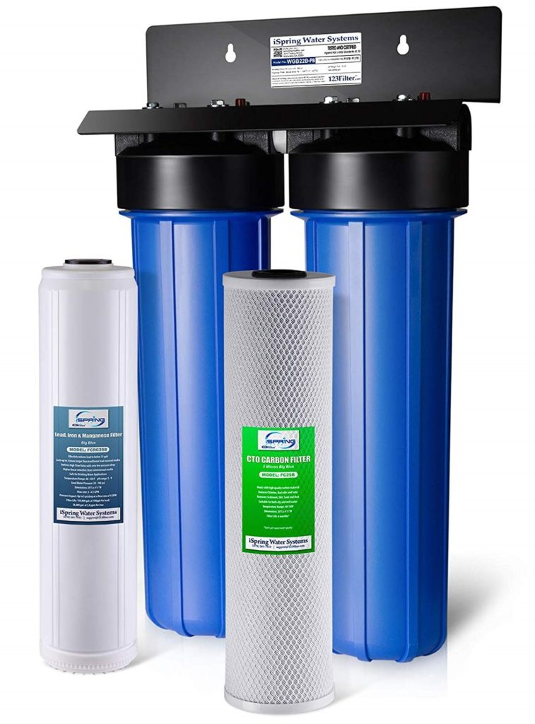 iSpring WGB22B-PB 2-Stage Whole House Water Filter